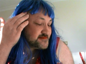 charlene feeling pretty blue hair